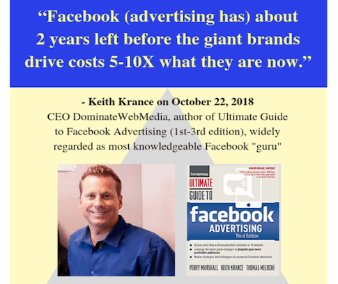 Facebook advertising costs to skyrocket - Local By Referral